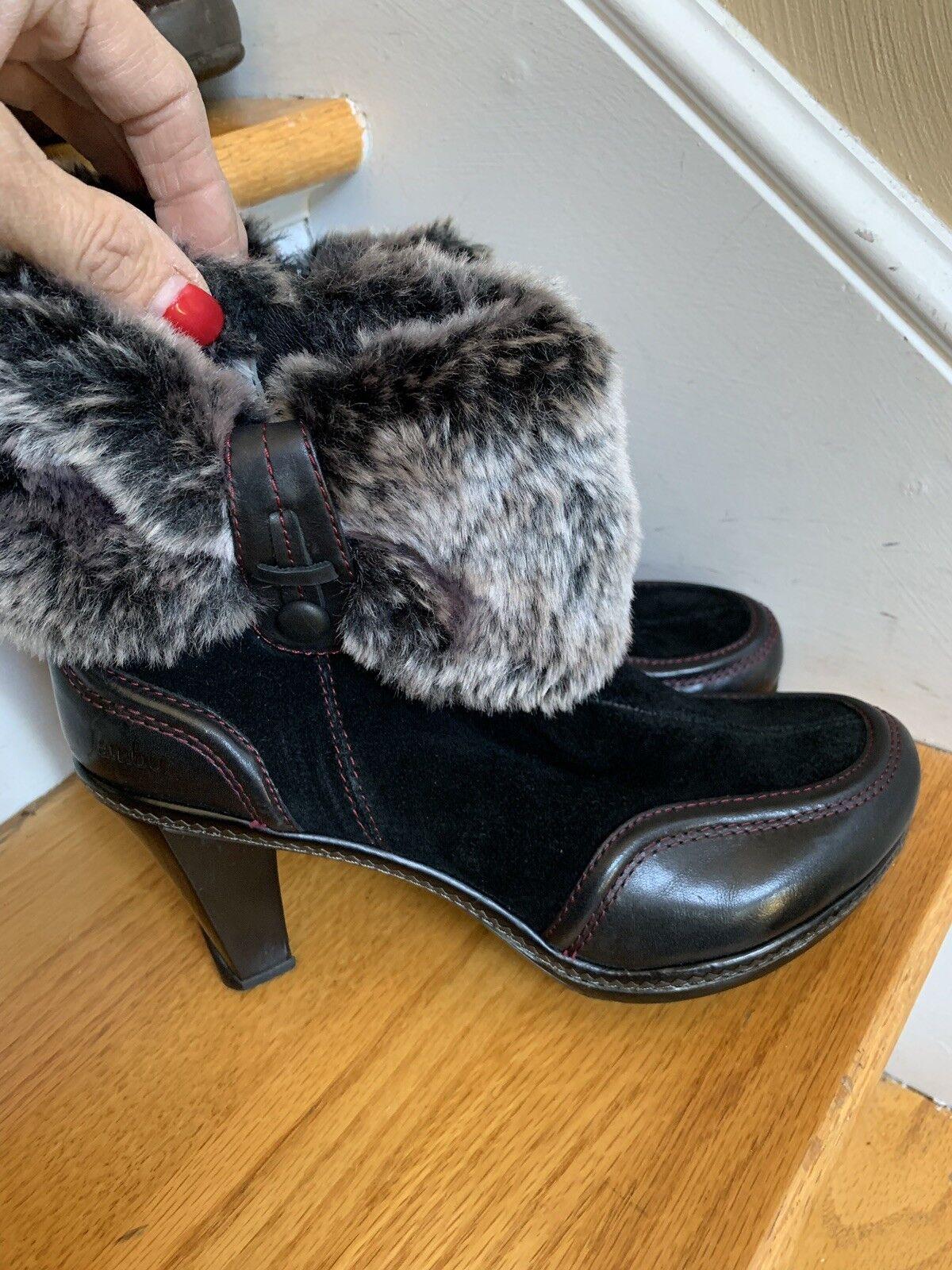 Jambu Bottes Sophie taille 6 m en cuir noir ECU Boho Rétro Classique nouveau@160