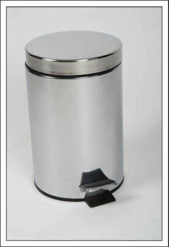 Treteimer Edelstahl 3 Liter rund Mülleimer Kosmetikeimer Abfalleimer Eimer