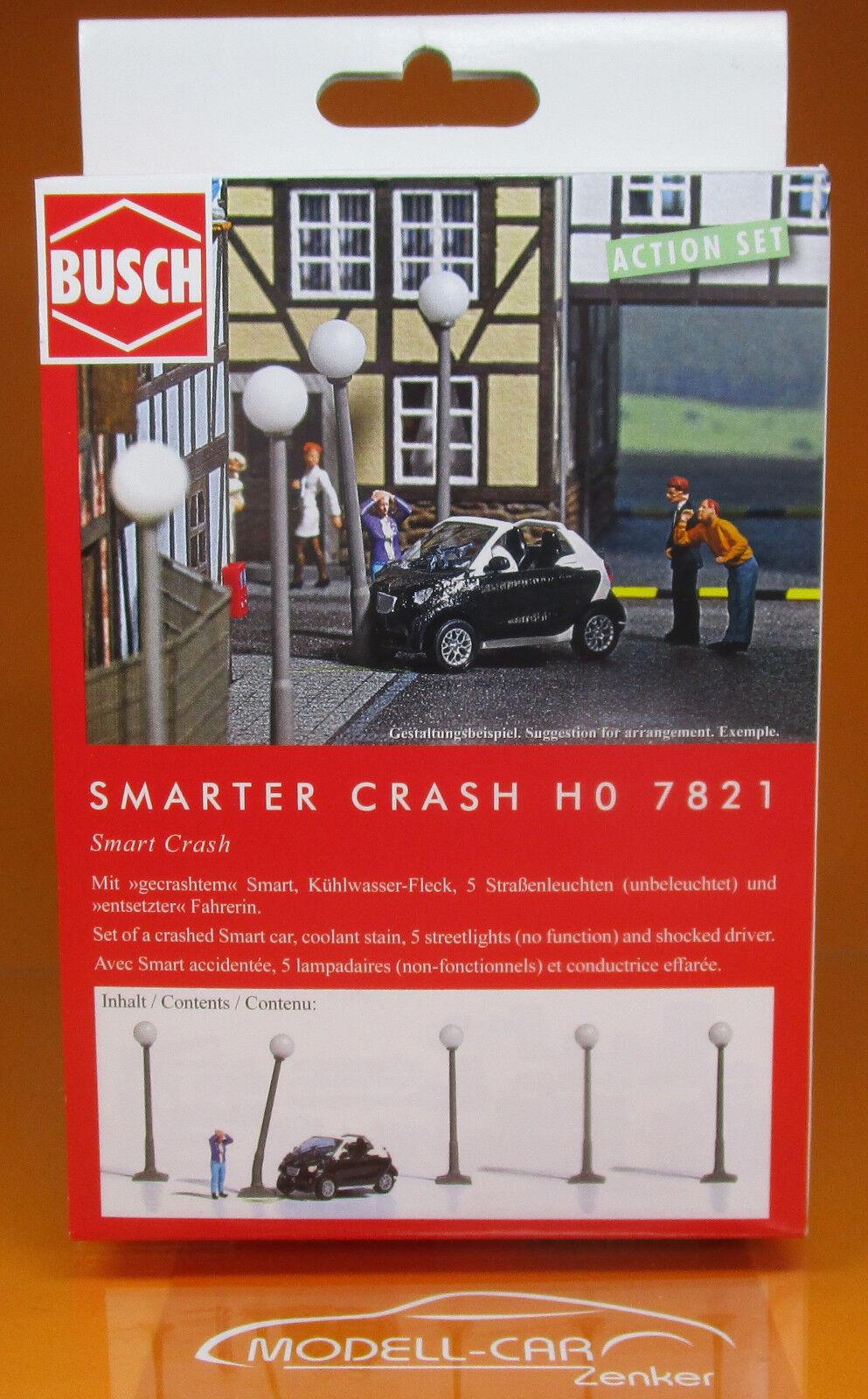 Busch 7821 A-Set Smarter Crash Smart H0 Scale 1 87 NEU OVP  | Spaß