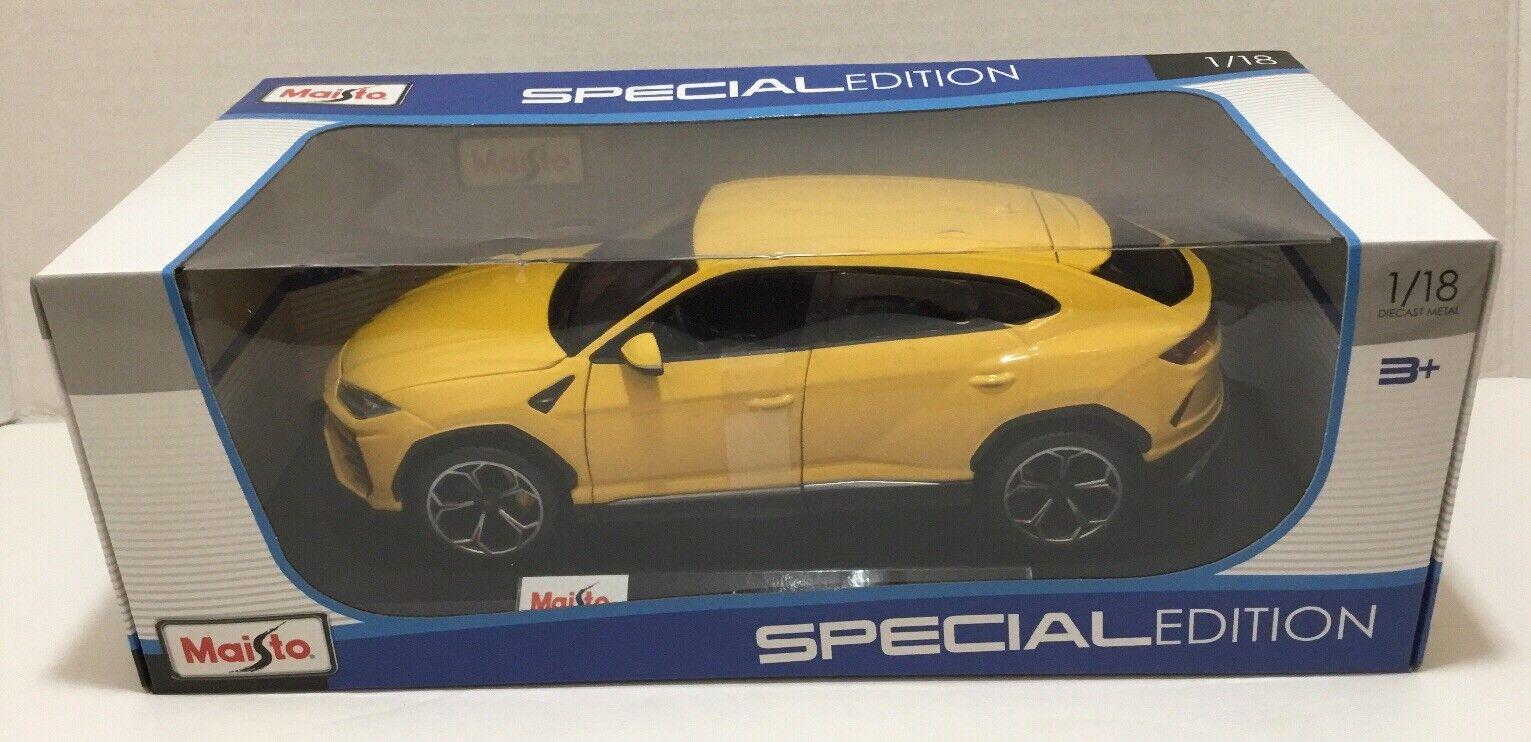 Lamborghini Urus - Maisto - 1 18 Diecast Model Model Model Car - Yellow 99ca9f