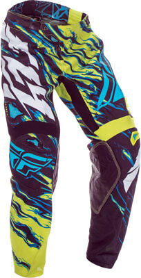 FLY RACING KINETIC RELAPSE PANT LIME//BLUE SZ 32 370-43532