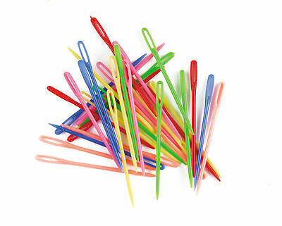 10 x CHILDRENS /& ADULTS PLASTIC DARNING /& SEWING NEEDLES
