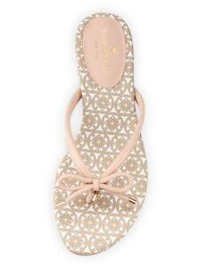 52af19d97418 Kate Spade Mystic Bow Flip Flops Thong Sandals Black White   Pale ...