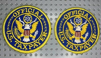 """New Vintage  /""""Official U.S Taxpayer/""""  Patch"""