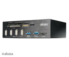 Akasa AK-HC-05U3BK Interconnect Pro USB panel with USB 3.0 card reader and eSATA