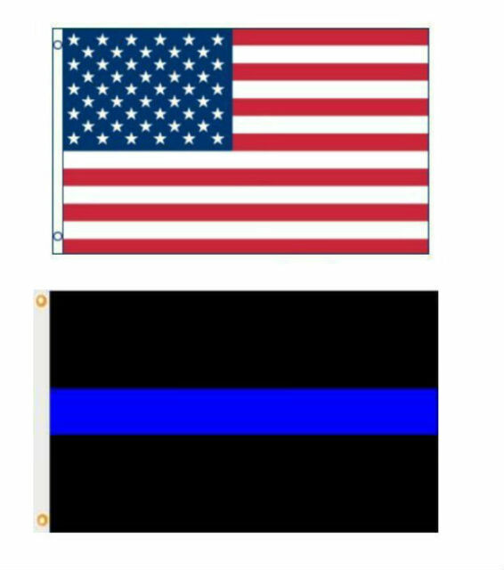 3x5 Blue Lives Matter Thin Blue Line 100D Woven Poly Nylon 3/'x5/' Flag RUF