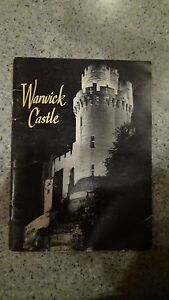 Vintage History of warwick castle book