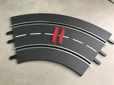 4 Aussen Randstreifen Carrera Exclusiv Evolution Digital für Kurve1 schwarz//gelb