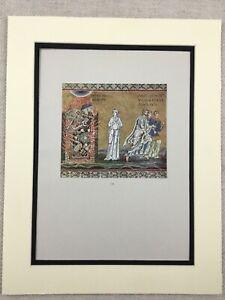 1929-Antik-Aufdruck-Italienische-Byzantinische-Mosaik-Destruction-von-Sodom-Und