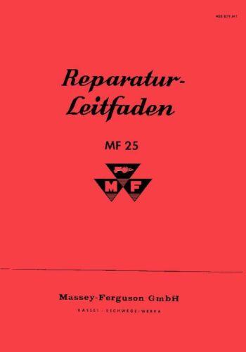 Werkstatthandbuch Massey Ferguson MF 25