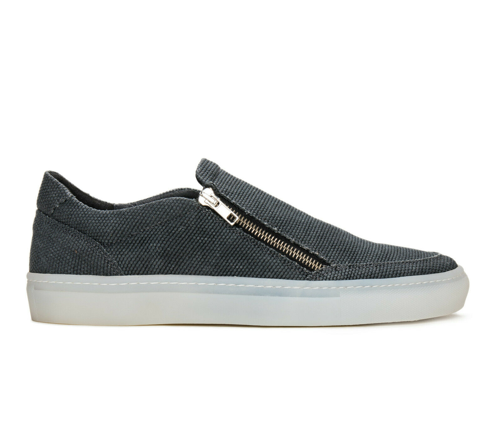 Casual comfort sport shoe sneaker on organic cotton breathable lined with zipper