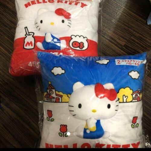 Hello Kitty Cushion Limited 45Th Anniversary Sanrio Kuji Blue Red stuffed Plush