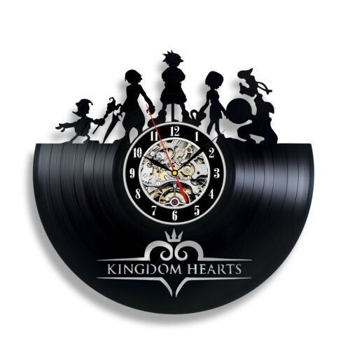 Kingdom Hearts Accueil Horloge films Art Vinyle Horloge Wall decor fait main 191