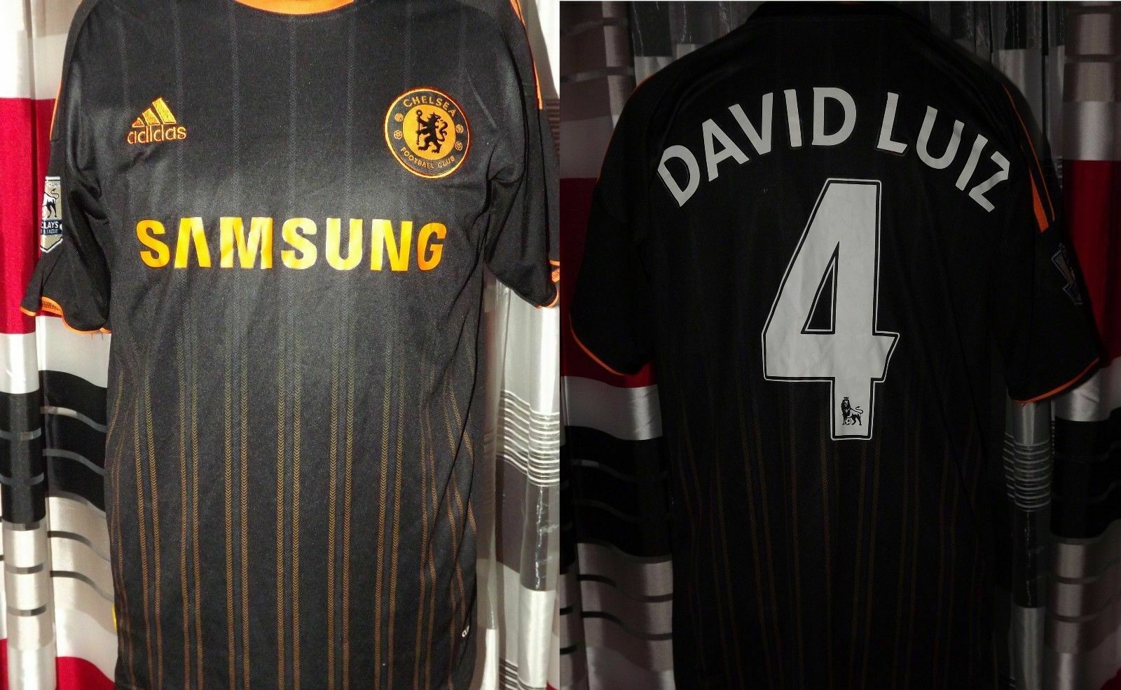 201011  Chelsea David Luiz  4 AWAY S Maglia jersey trikot maglia camiseta