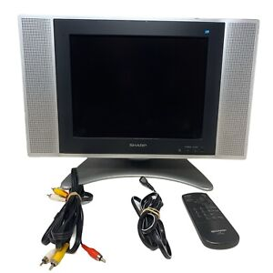 """Sharp LC-13SH6U 13"""" Inch LCD TV With Remote And AV Retro Gaming, Tested Works"""