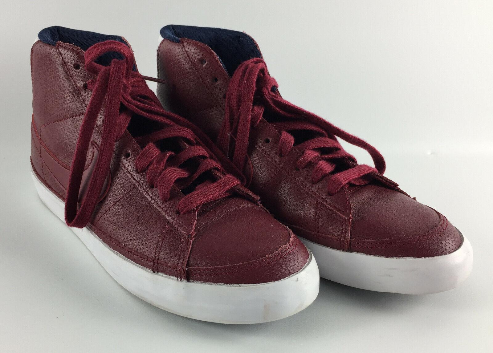 Nike Blazer Mid Team Red White Obsidian - 371761-603 Size 8