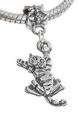 Cat Animal Kitty Kitten Pet Dangle Bead for Silver European Style Charm Bracelet