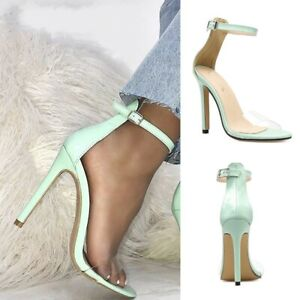 UK-Ladies-Peep-Toe-Clear-PVC-Stilettos-Sandals-High-Heel-Ankle-Strap-Party-Shoes