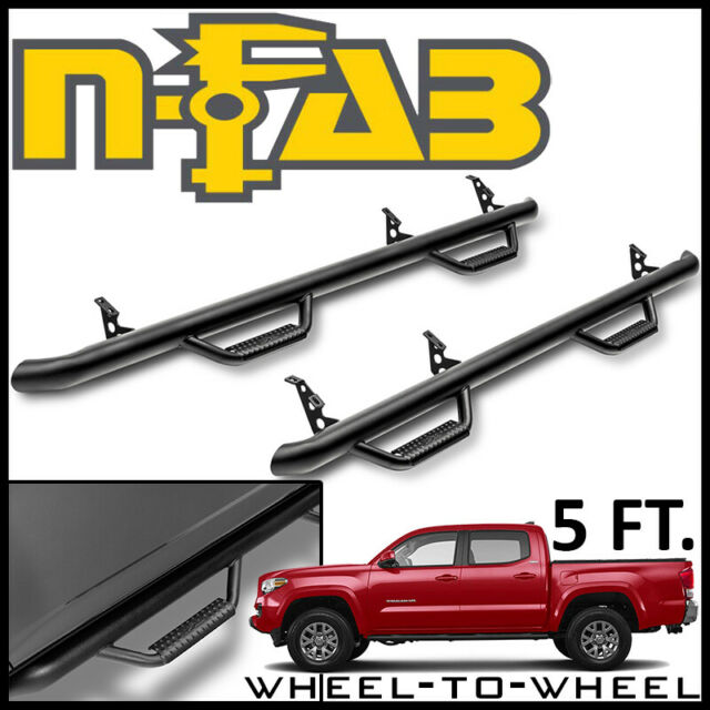 N-Fab T1678CC-TX Textured Black Nerf Step Cab Length Black-T1678CC-TX