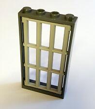1x LEGO® Fenster 1x4x6 dreifach geteilt mit Rauchglas 6160 c01 NEU Hellgrau