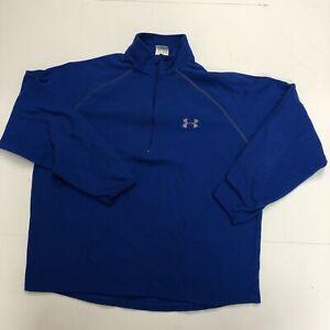 Under-Armour-Men-s-Fleece-Size-Small-1-4-Zip-Blue-Long-Sleeve