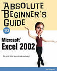 Absolute Beginner's Guide to Microsoft Excel 2002 by Joe E. Kraynak (Paperback, 2003)