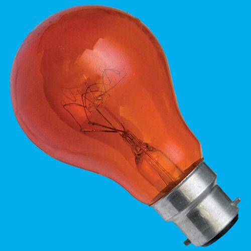 8x 40W Red Fireglow GLS Light Bulbs Flame Effect Electric Fires Bayonet BC B22
