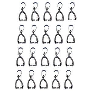 20pcs-metalic-black-Pendant-Pinch-Bails-DIY-Necklace-Jewelry-Making-Finding-20mm