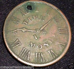 1837-Smith-039-s-Clock-Establishment-Hard-Times-Token-HT-315-NO-71-2-BOWERY-N-Y