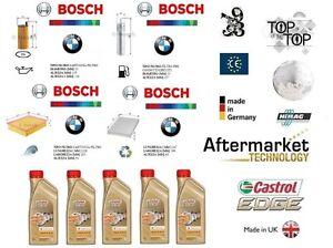 Details about Replacement Filter Kit BMW 3 F30 F31 316d 320d + 5 L Oil  Castrol 5W30