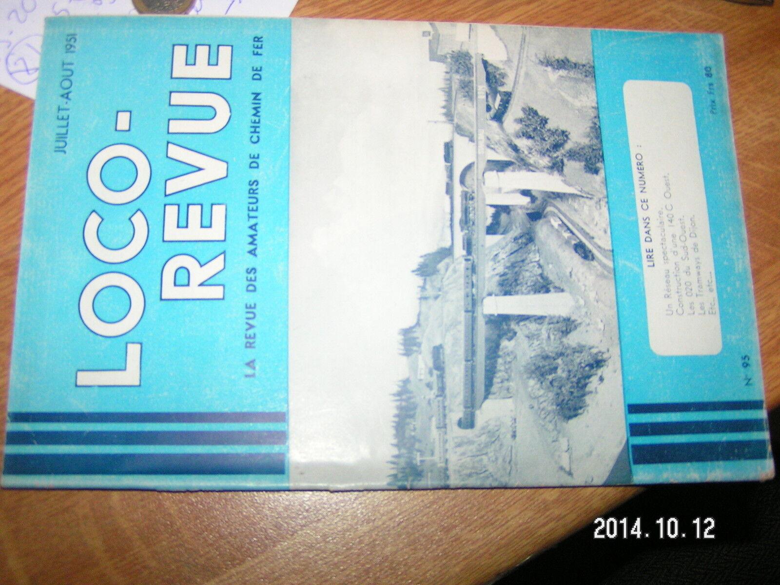 Loco Revue n°95 1D1 Genes-Vintimille Tramways de DijonVoiture presidentielle