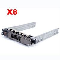 Lot Of 8, 2.5 Sas Sata Hard Drive Tray Caddy For Dell Poweredge R710 Us Seller