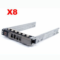 Lot Of 8, 2.5 Sas Sata Hard Drive Tray Caddy For Dell Poweredge T710 Us Seller