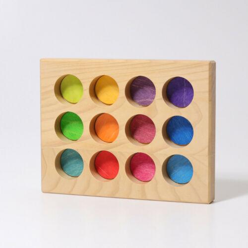 Grimm/'s Game and Wood Design 10576 Sortier-Brettchen Rainbow Novelty 2019
