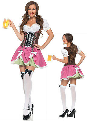 Leale Costume Travestimento Da Festa Vestito Carnevale Donna Ballo Damigella