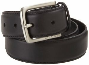 Tommy-Hilfiger-Men-039-s-Black-Dress-Belt-Stitch-Leather-11tl02x038-blk