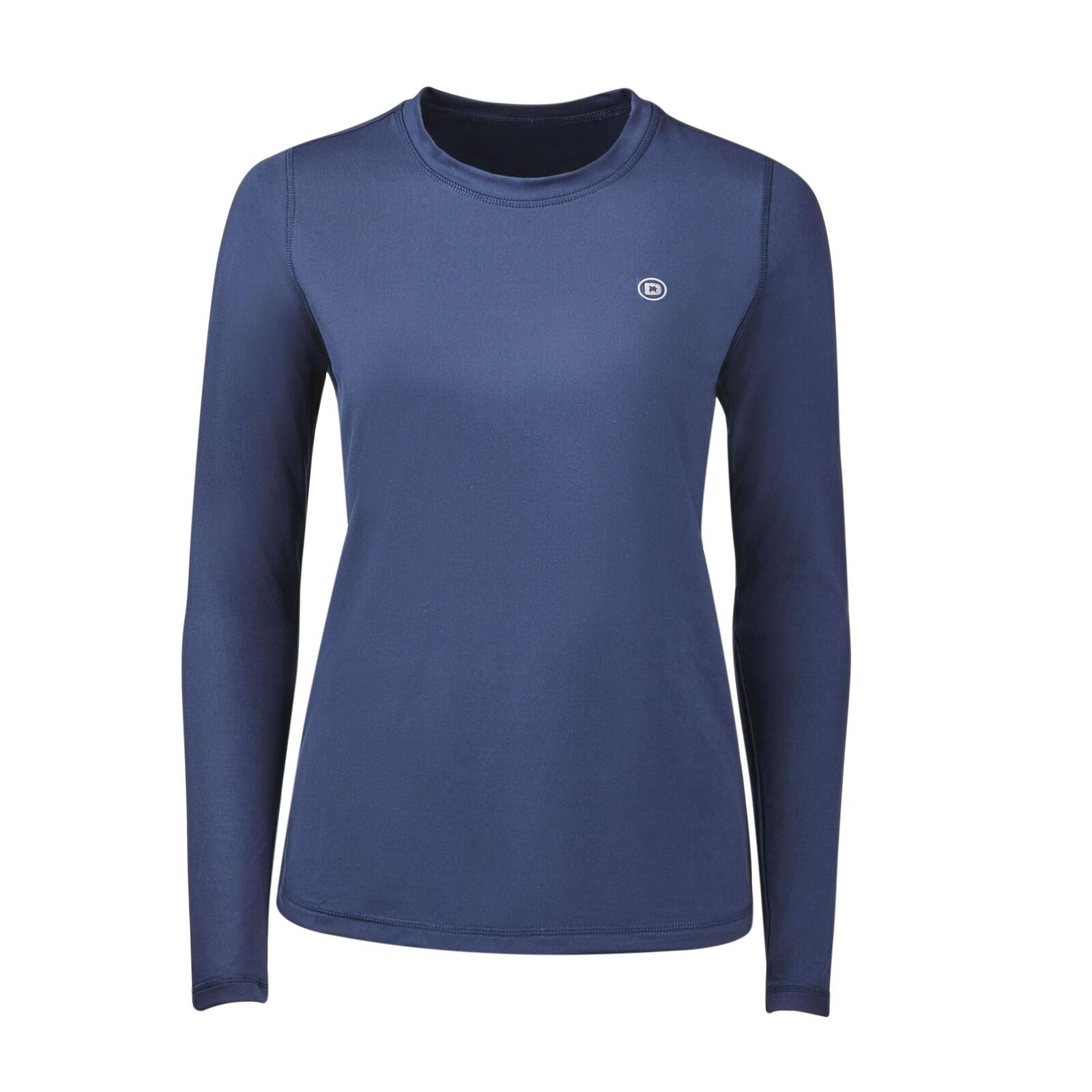 Dublin Pearl Long Sleeve Technical Horse Riding Top Technical brushed fabric. A