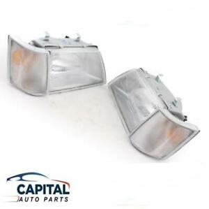 Set of Headlights & Corner Park Indicator Lights Holden Commodore VH/VK 1981-86