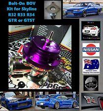Skyline BOLT ON Blow Off Valve Kit with GReddy Flange R32 R33 R34 RB26 RB25 BOV