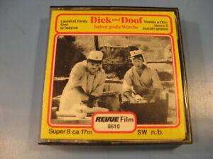 8-mm-Film-Comedy-Slapstick-Dick-u-Doof-haben-grosse-Waesche-Antique-Comedy-Films