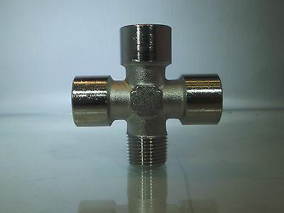 Bsp Equal Cross,  3 Styles to Choose,Nickel plated brass   Bsp 4 Way Equal Cross