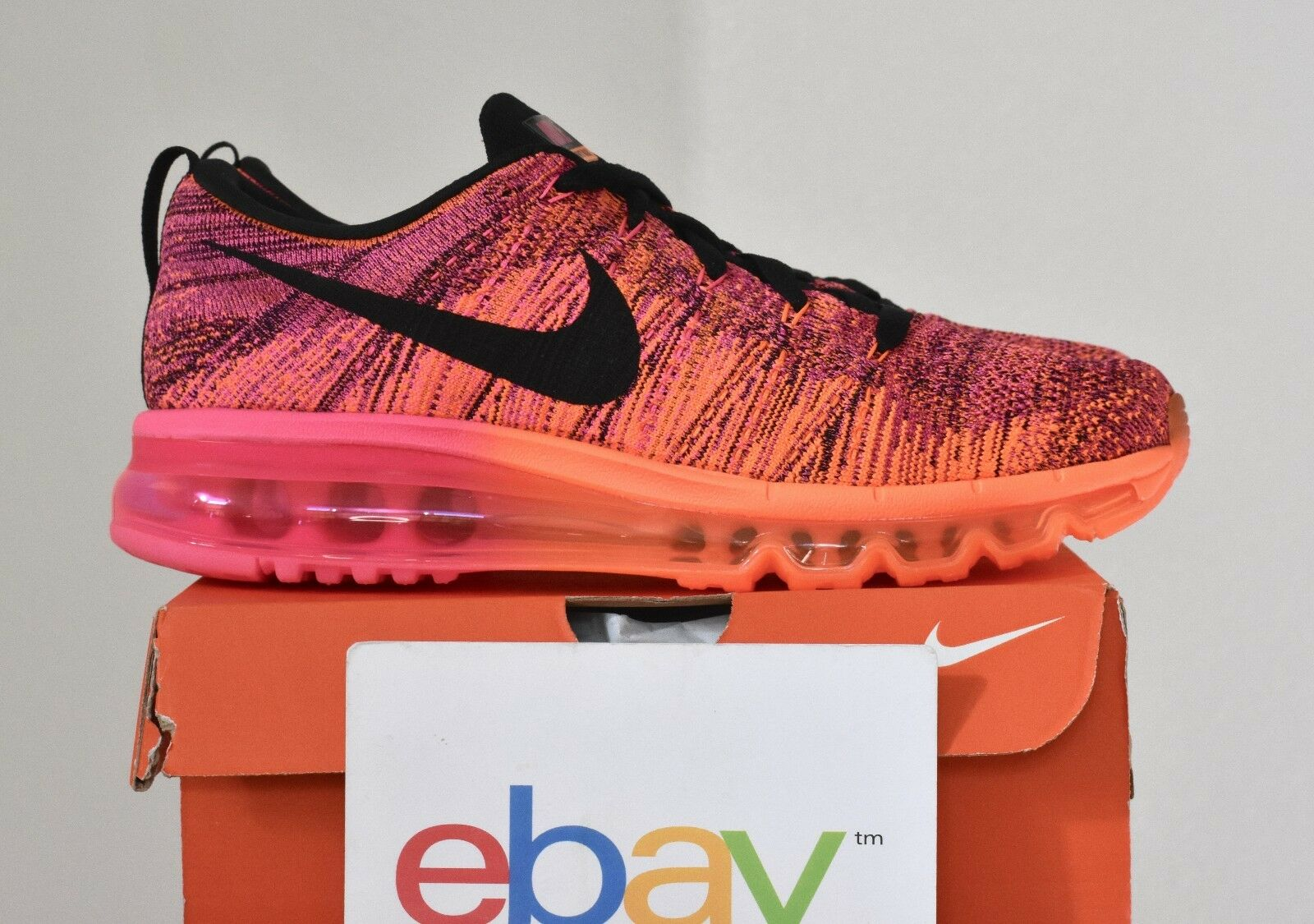 New Womens Nike Flyknit Max FIREBERRY Comfortable