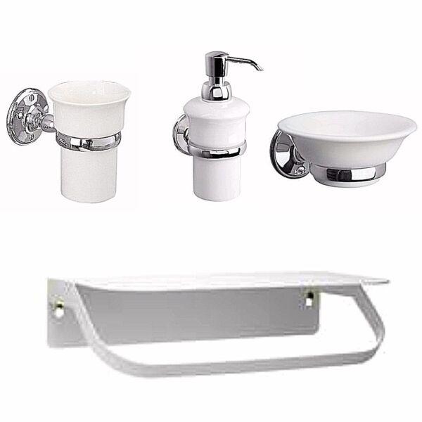 Chrome Round Bathroom Accessories Wall Mounted Soap Dish Dispenser Tumbler Shelf De Mondholte Schoonmaken.