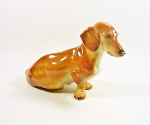 Details about HEREND, BROWN DACHSHUND DOG LAYING 8 2