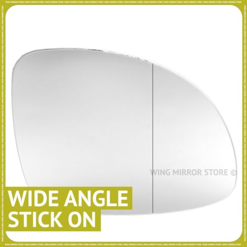 Right hand driver side for VW Tiguan 2007-2015 Wide Angle wing mirror glass