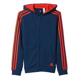 92eb51993 Adidas Boys Youth Hoodie Kids Sweatshirt 3 Stripes Training Running ...
