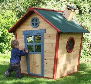Details About Redwood Lodge Wooden Playhouse Kids Painted Garden Wendy House Den Childrens