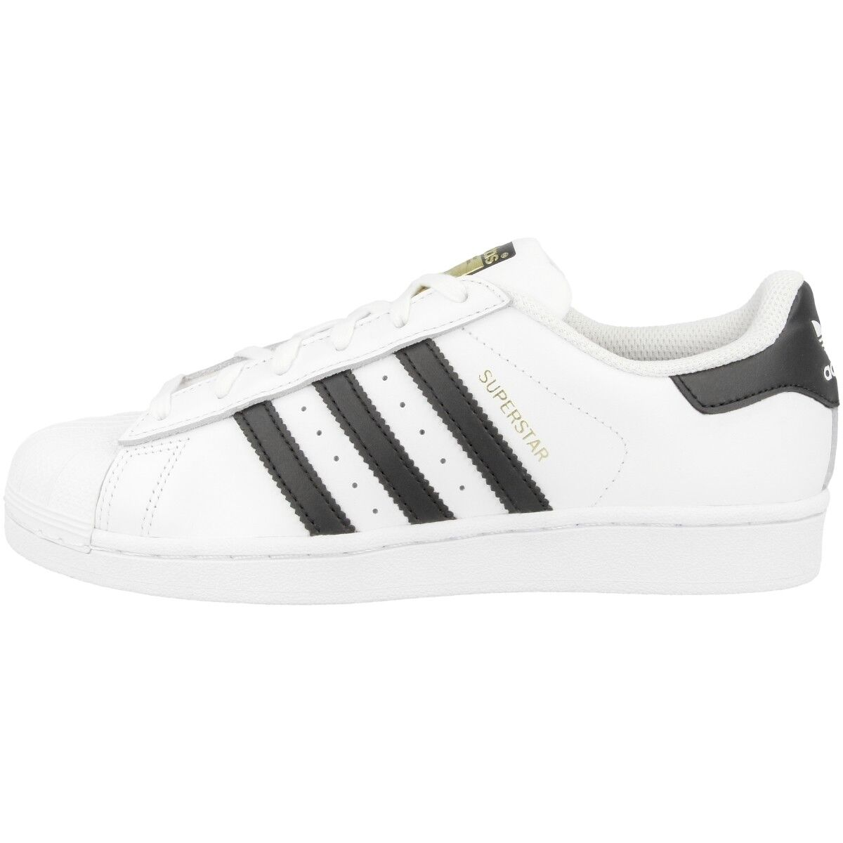 Adidas Superstar J zapatos blanco negro c77154 retro cortos Dragon Foundation CF