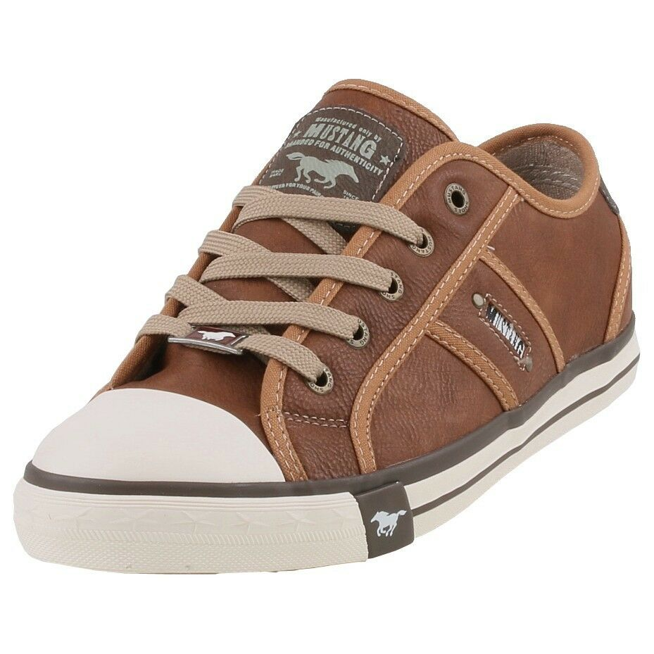 Neuf Mustang chaussures Femme chaussures Baskets chaussures Plates à Lacets