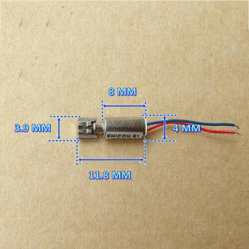 5-Pole Coreless Vibration Motor Micro Mini 4mm*8mm Precision Tiny Vibrator Motor